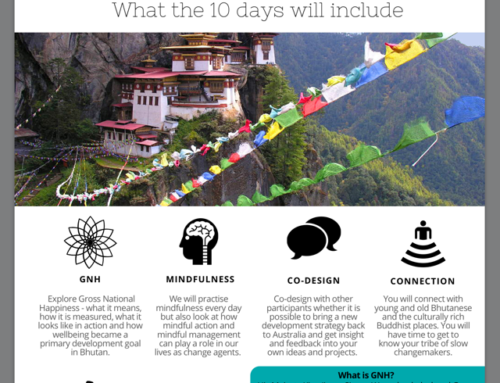 "Workshop Konzept: ""Slow Change Experience"", November 2016 in Bhutan"