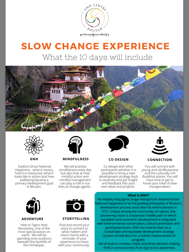 slow change experience