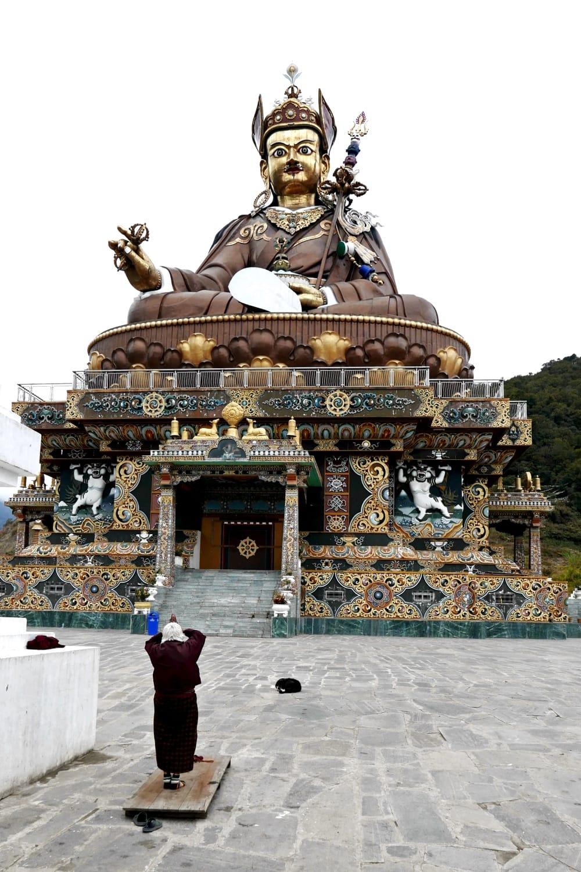 Padmasambhava Statue in Lhuntse, Ost-Bhutan