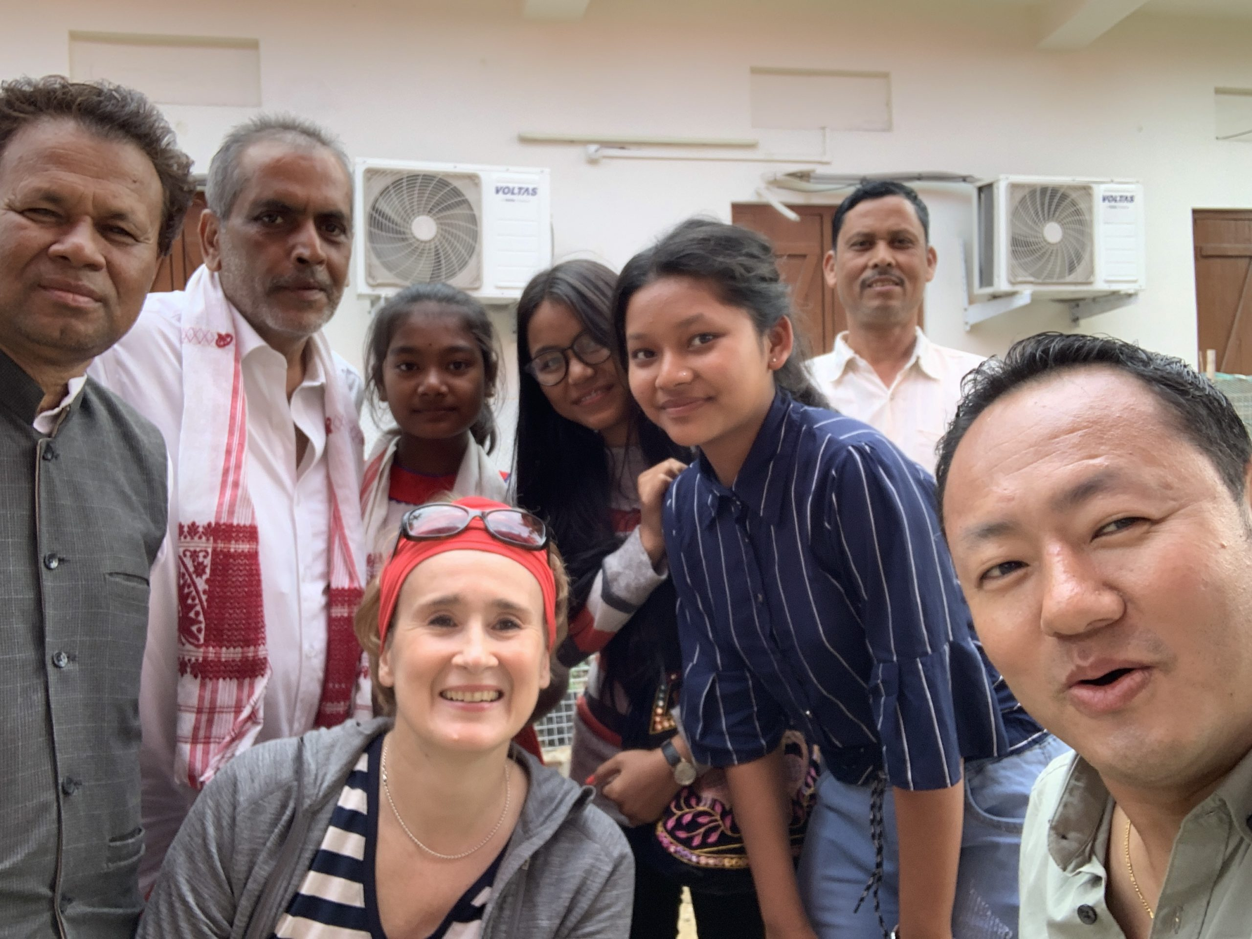 Selfie with Hinduist parishioners in Sashipur, Assam, December 2019