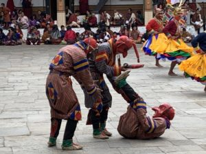 Teufel-Tanz im Punakha Maskenfestival